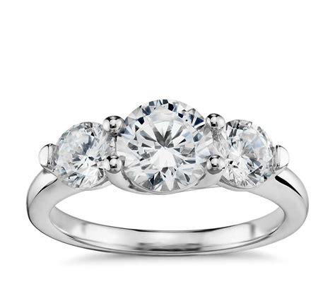 three trellis engagement ring in
