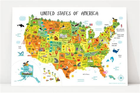 free usa wall map printable usa map for instant pictureta