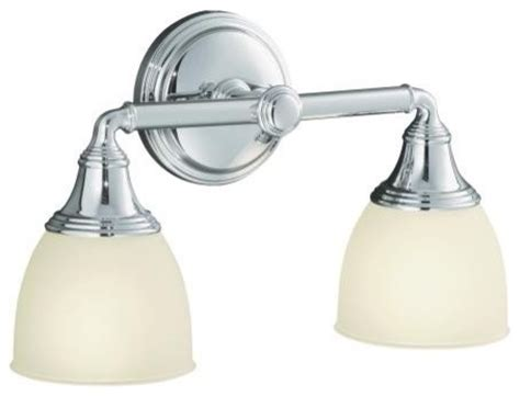 Kohler Devonshire Bathroom Lighting Kohler K 10571 Cp Devonshire Wall Sconce In Chrome Traditional Bathroom Vanity