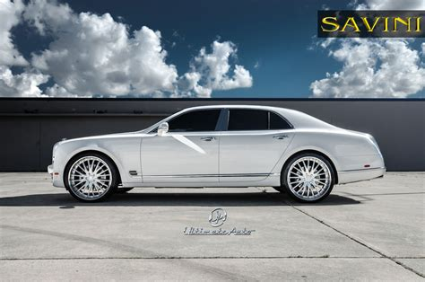 bentley mulsanne white mulsanne savini wheels