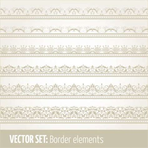 sewing borders design elements vector 35 vintage frame and border templates