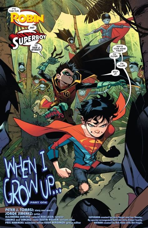 sons vol 1 when i grow up rebirth sons rebirth dc comics rebirth spoilers sons 1 brings superman