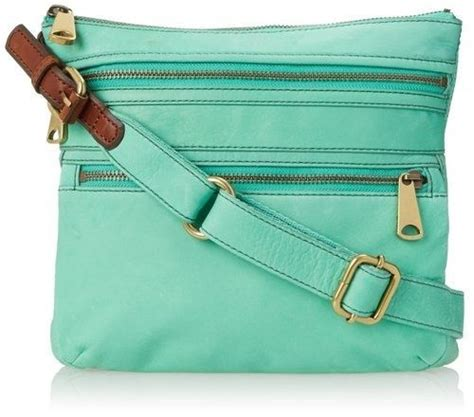 Fossil Sacthel Ew Crossbody Simple Elegand 614fa252 fossil nwt explorer crossbody bag purse leather mint green retails 178 mint green bags and