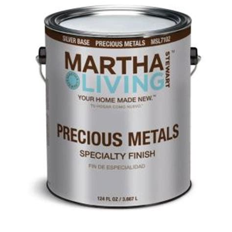 martha stewart living 1 gal silver semi gloss precious metals specialty finish msl7102 01 the