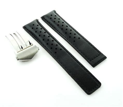 Tag Heuer Black Leather 22mm leather band clasp 22mm for tag heuer black