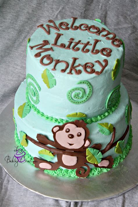 Monkey Themed Baby Shower by Monkey Themed Baby Shower Cake Cakecentral