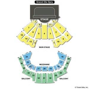 Grand Ole Opry Floor Plan by Grand Ole Opry House Seating Charts