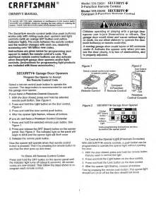 craftsman garage door opener instructions craftsman garage door opener 139 5368 user s guide