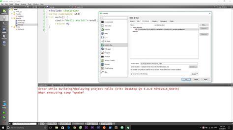 qt programming amazon lỗi qt quot when executing step quot qmake quot programming dạy