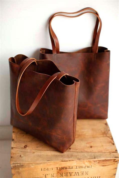 Leather Totebag brown leather tote bag brown leather bag brown leather