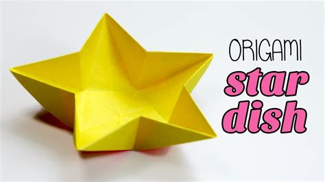 How To Make Paper Dish - origami dish bowl tutorial diy