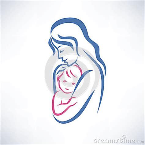 mom tattoo cartoon mother and son symbol stock photo image 36915990