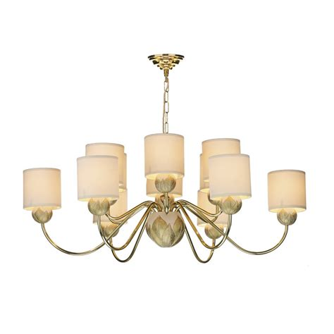 Ivory Chandelier Classic Brass Gold Ivory Ceiling Chandelier With Shades
