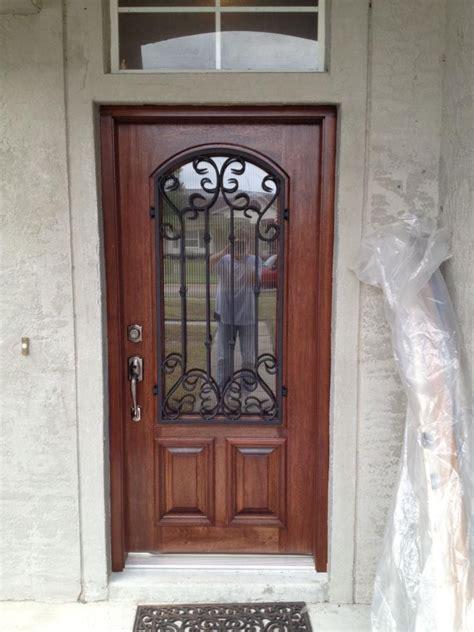 Wood And Iron Front Doors Doorpro Entryways Inc Wood Doors