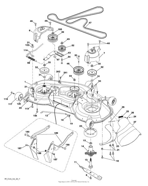 husqvarna lawn mower parts diagram husqvarna yth24v48 96043018200 2013 10 parts diagram