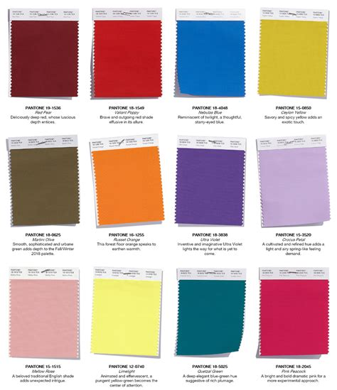 pantone color palette the pantone color palette for the fall everyone s talking