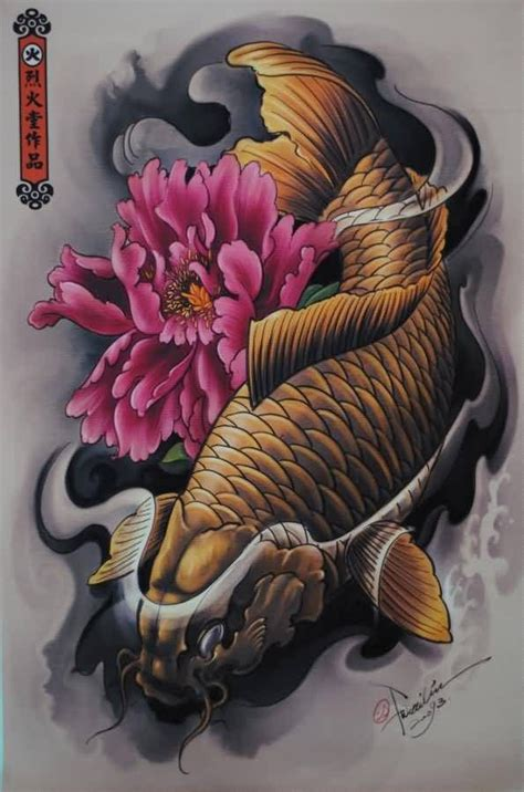 koi fish lotus flower tattoos buscar con google ideas