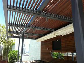 Pergola Retractable Shade Systems by Retractable Roof Systems And Pergolas