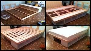 Bed Frames With Storage Space 10 Diy Storage Bed Ideas Home Design Garden