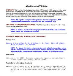 microsoft office apa 6th edition template sle apa format template 6 free documents in pdf word