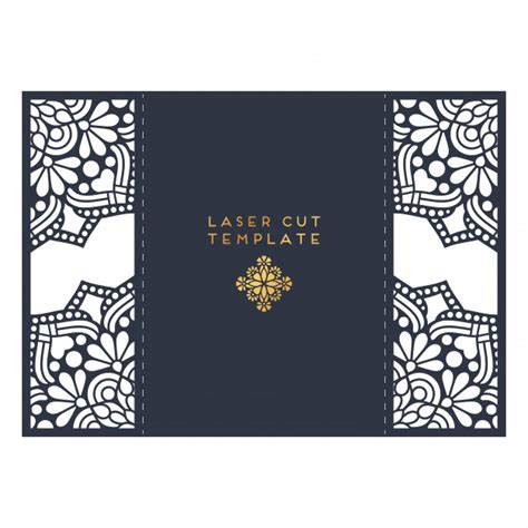 Wedding Card Laser Cut Template Vintage Decorative Elements Vector Free Download Laser Cut L Template
