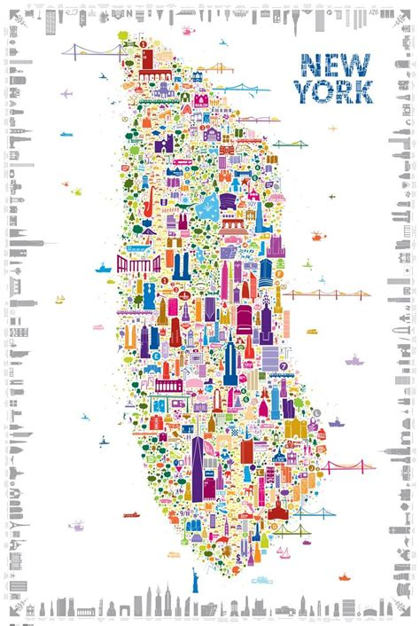 best map of new york city best 25 map of new york ideas on map of