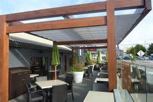 valley canvas and awning kelowna cantilevered retractable canopies ora restaurant