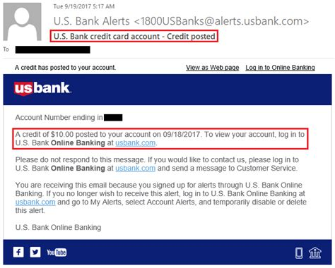 my us bank 10 statement credits posted from us bank applepay promo