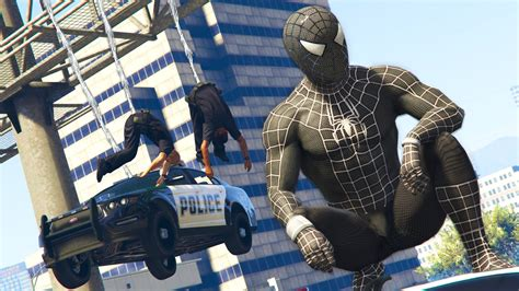 mod gta 5 spiderman gta 5 mods black spiderman mod gta 5 symbiote spiderman