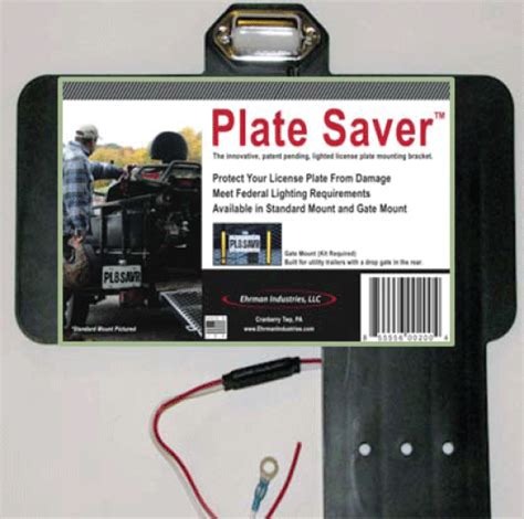 trailer license plate bracket with light plate saver trailer plate mount