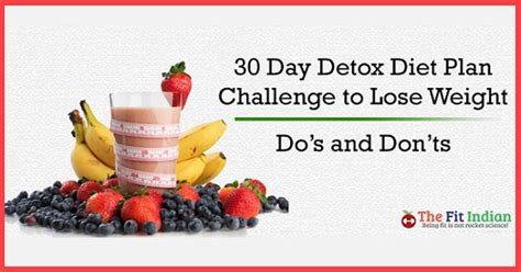 30 Day Detox Diet Fitness Magazine by 30 Day Detox Diet Plan Challenge To Lose Weight Do S And