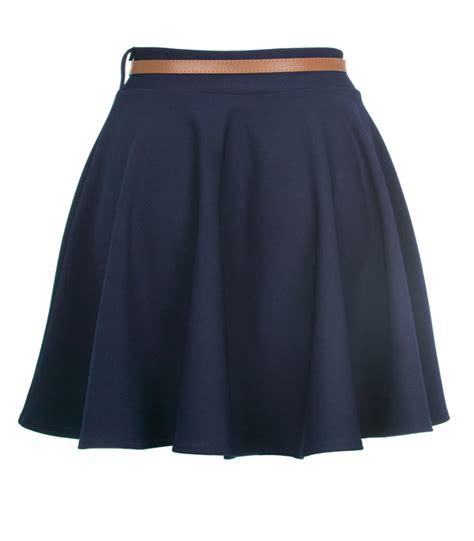 new womens navy high waisted skater skirt size 8 14