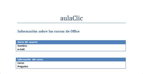 formulario 2010 who curso gratis de word 2010 aulaclic 21 ejercicio crear