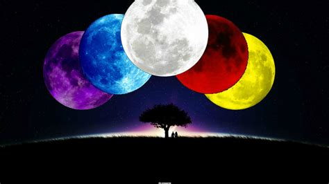 colorful moon wallpaper color moons wallpaper 2 by weissdrum on deviantart