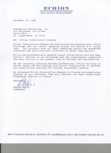business recommendation letter recommendation letter for business