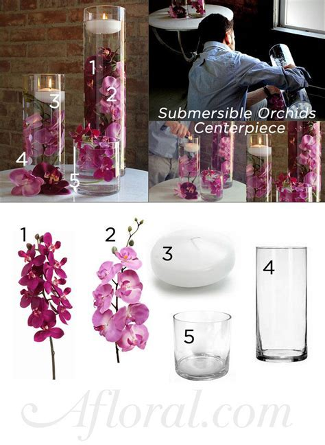 How to Make a Floating Candle Centerpiece Video   Orchid