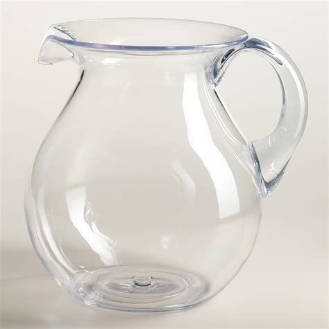 Home Decor Online Store by Large Clear Acrylic Pitcher World Market