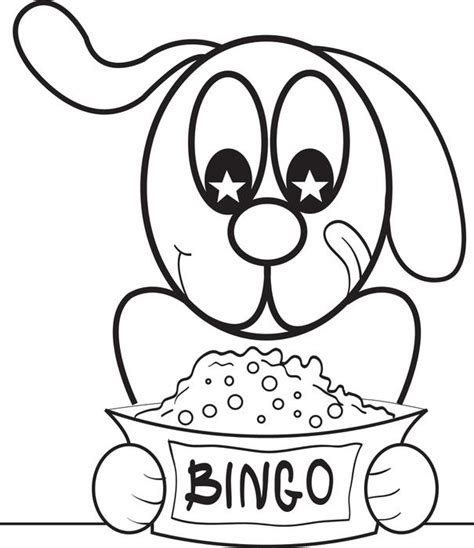 free printable bingo the cartoon dog coloring page for kids