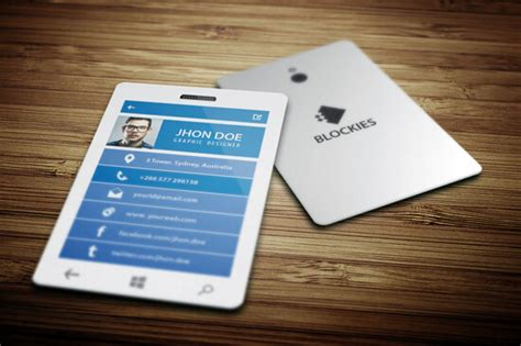mobile phone business card template business card design exles 2