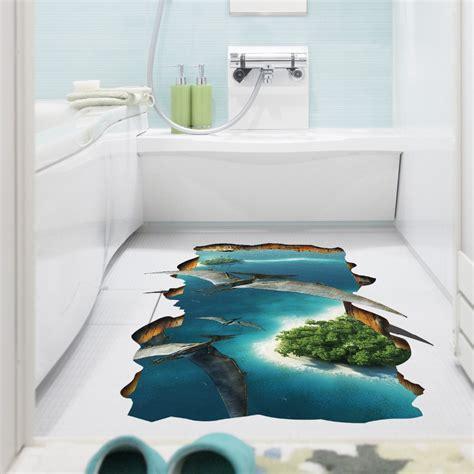Kids In Bathroom - 3d creative pterosaur wall sticker kids room bathroom floor wall decor wallpaper art mural