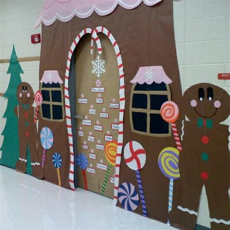 Gingerbread House Door Decorations by Gorgeous Gingerbread House Classroom Display