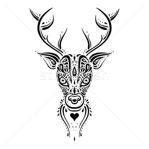 hirsch 183 kopf 183 ethnischen 183 muster 183 tribal 183 tattoo