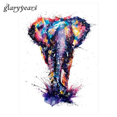 colorful elephant 1pc water transfer km 077 colorful drawing