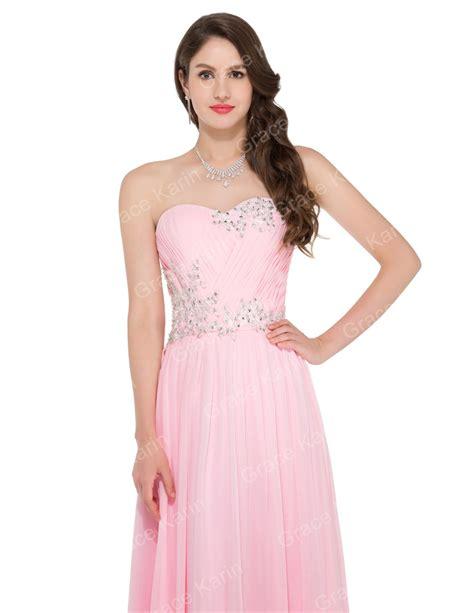 Bridesmaid Dress Material Names - grace karin strapless sweetheart floor length pink