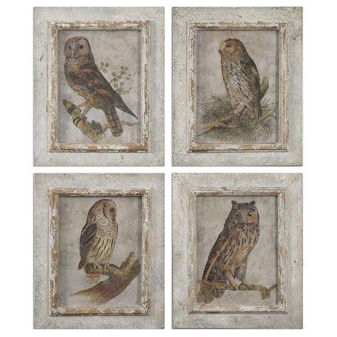 Uttermost Artwork Uttermost Owls Framed S 4