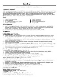 Practice Resume Templates by Professional Practice Manager Templates To Showcase Your