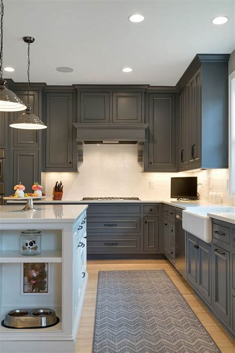 cabinets are painted with kendall charcoal from benjamin design a
