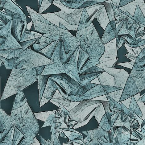 Origami Armor - origami armor gray green fabric greenedevine spoonflower