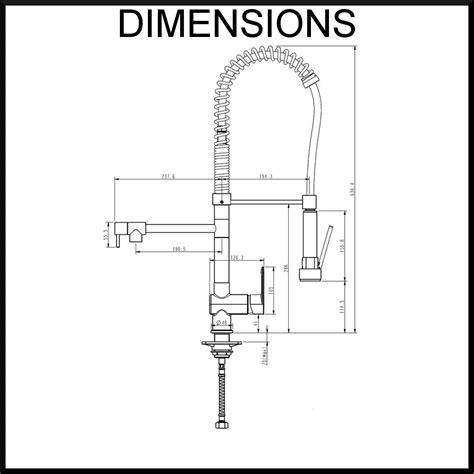 Kitchen Mixer Dimensions Grande Neck Kitchen Sink Mixer Multi Function Flexi