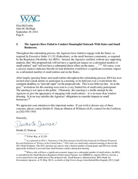 Letter Withdrawing Shares Coalition Letter Urging Withdrawal Of Epa Corps Waters Of